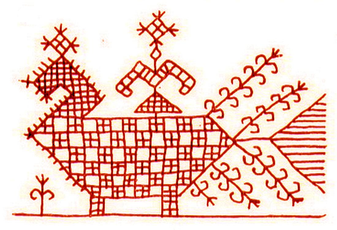 Русские народные орнаменты и узоры на вышивке 559